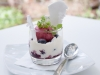 Blueberry Mess – Blueberry Compote, Fresh Blueberries, Fresh Cream, Meringue, Berry Sorbet, Lemon Balm