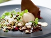 Chocolate Trio – Mousse, Soil, Dehydrated, Raspberry Gel, Nuts & Salted Caramel Ice Cream