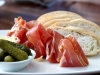 Iberico Jamon with Cornichon Butter Warm & Bread