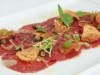 Beef Carpaccio with Caramelised Echalots and Potato Crisps