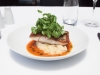 Crispy Skinned Barramundi with Crushed Kipflers, Watercress Tomato and Dill Sauce