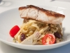 Crispy Skinned Barramundi with Linguini, Olives, Artichoke and Fresh Tomatoes