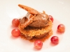 Peanut Brittle and Chocolate Mousse Mille Feuille with Grape Compote