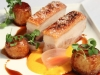 Pork Belly with Carrot Puree, Garlic Potatoes, pickled Eschalot & Water Cress