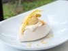 Mango Pavlova with Cream, Mango Sorbet & Dried Mango