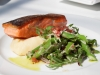 Seared Salmon, White Beans with Asparagus & Radish Salad