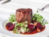 Char-Grilled Eye Fillet with Roasted Beetroot, Gorgonzola, Candied Walnuts & Cress Salad